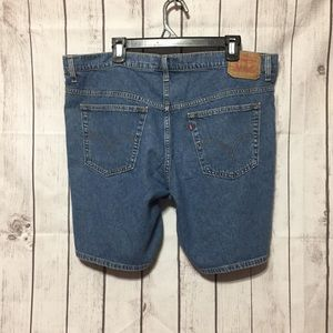 Levis Blue Jean Shorts Womens 18 W Classic Fit